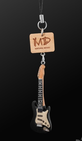 WOODEN STRAP Electric Guitar (Black)