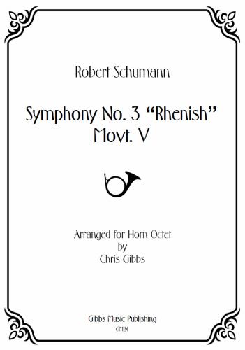 SYMPHONY No.3 'Rhenish', 5th Movement (score & parts)
