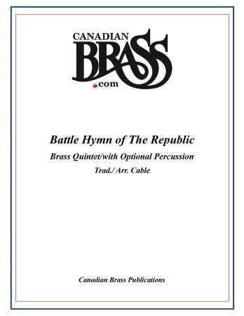BATTLE HYMN OF THE REPUBLIC (score & parts)