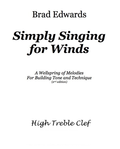 SIMPLY SINGING FOR WINDS High Treble Clef