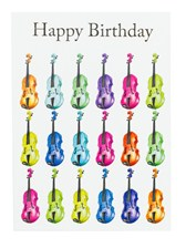 BIRTHDAY CARD -Jazzy Violin Design (7in x 5in)
