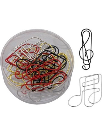 PAPER CLIPS Treble Clef/Notes(Assorted Colours)