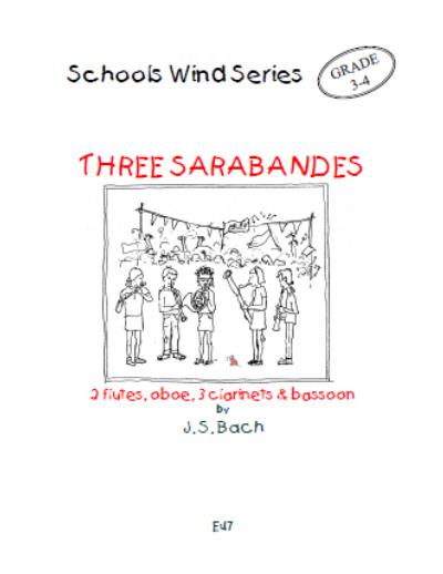 THREE SARABANDES (score & parts)