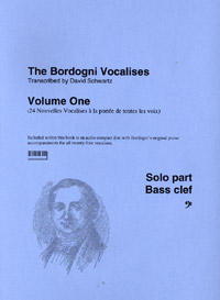 BORDOGNI VOCALISES Volume 1 + CD (bass clef)