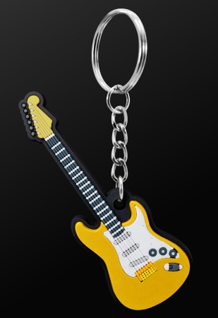 INSTRUMENT KEYRING Electric Guitar (Yellow)