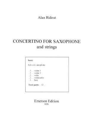 CONCERTINO FOR SAXOPHONE (set of parts)