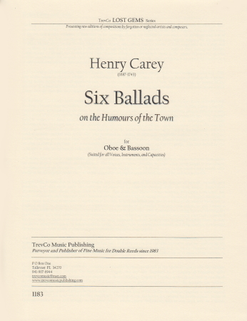SIX BALLADS on the Humours of the Town