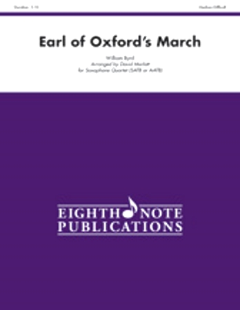 EARL OF OXFORD'S MARCH (score & parts)