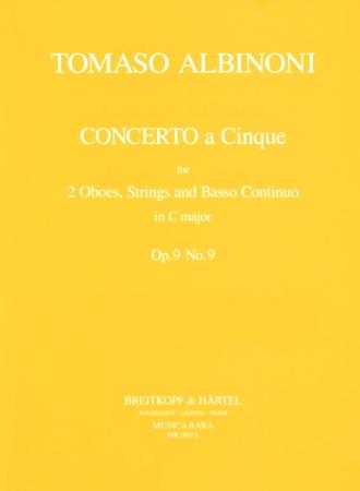 CONCERTO A CINQUE Op.9 No.9 in C major (score & parts)