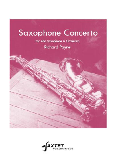 SAXOPHONE CONCERTO score & parts