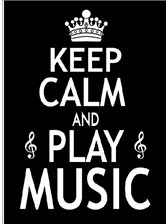 GREETINGS CARD Keep Calm and Play Music (7in x 5in)
