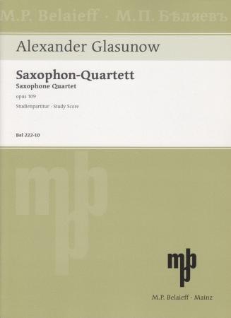 SAXOPHONE QUARTET Op.109 (score)