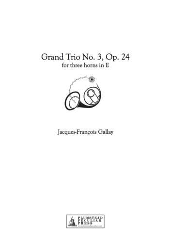TROIS GRAND TRIOS Op.24 No.3