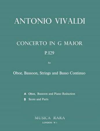 CONCERTO in G major RV545 P129 (score & parts)