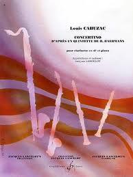 CONCERTINO d'apres un Quintette de H. Baermann