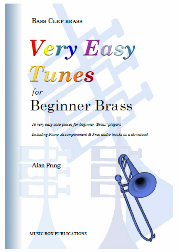 VERY EASY TUNES for Beginner Brass (bass clef)
