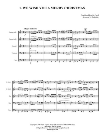 12 CHRISTMAS CAROLS (score & parts)