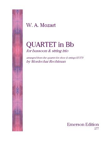 QUARTET in Bb major (score & parts)