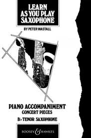 LEARN AS YOU PLAY SAXOPHONE Piano Accompaniment (for Tenor)