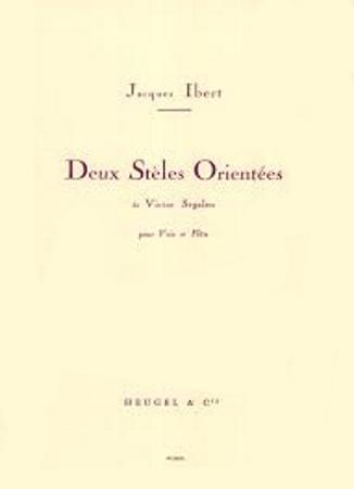 DEUX STELES ORIENTEES