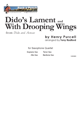 DIDO'S LAMENT  and WITH DROOPING WINGS (score & parts)