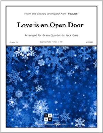 LOVE IS AN OPEN DOOR score & parts