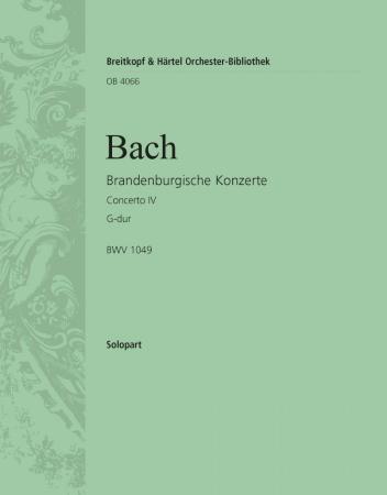 BRANDENBURG CONCERTO No.4 1st solo flute part