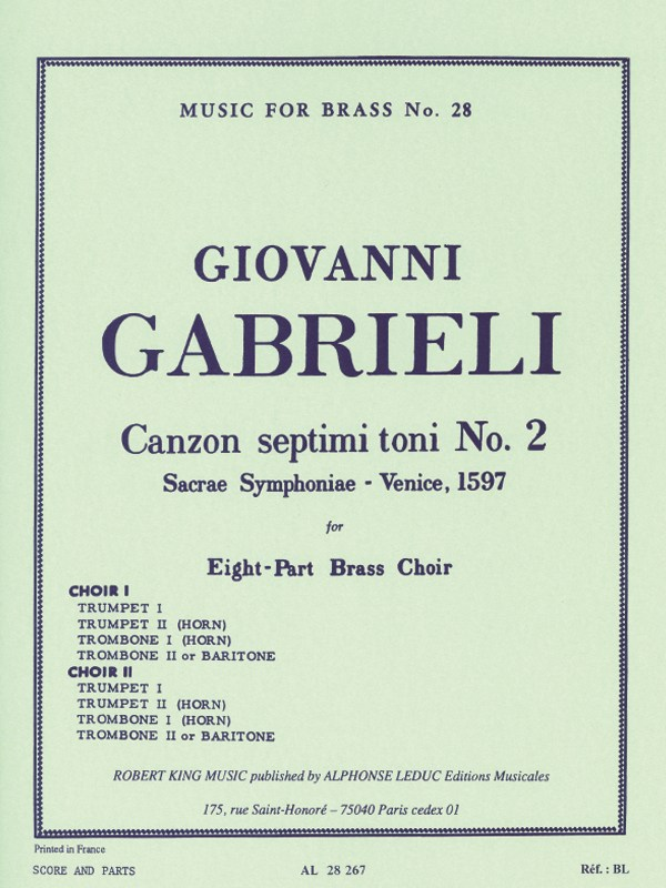 CANZON SEPTIMI TONI No.2 (score & parts)