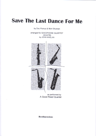 SAVE THE LAST DANCE FOR ME (score & parts)