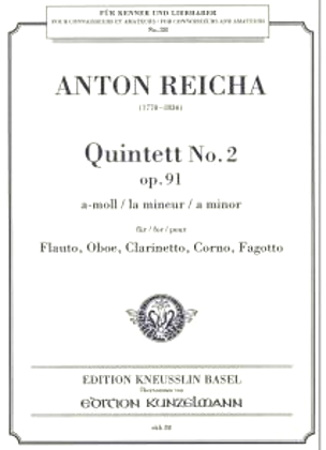 QUINTET Op.91 No.2 in A minor (parts only)