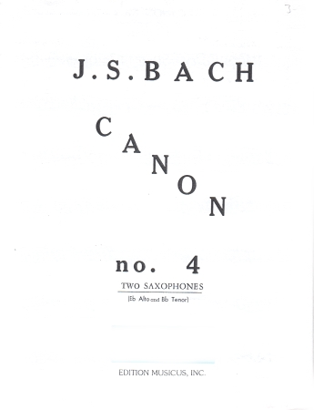 CANON No.4 in c minor from The Art of Fugue