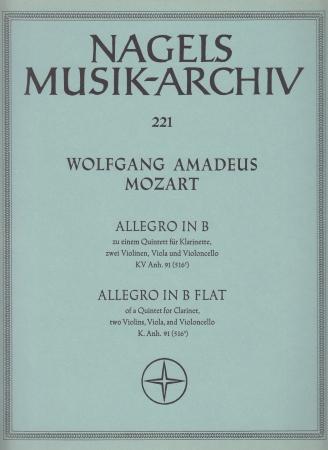 ALLEGRO in Bb major, KV Anh.91 (516c) (score & parts)