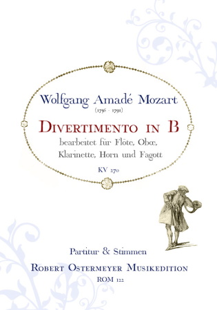 DIVERTIMENTO in Bb major KV270 (score & parts)