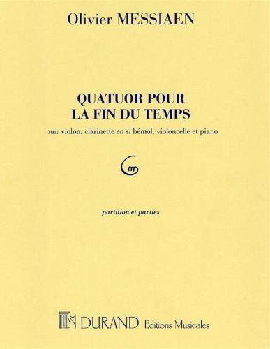 QUATUOR POUR LA FIN DU TEMPS (piano score & parts)