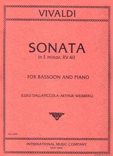 SONATA No.5 in E minor, RV40