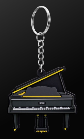 INSTRUMENT KEYRING Grand Piano (Black)