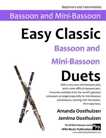 EASY CLASSIC DUETS for Bassoon & Mini-Bassoon