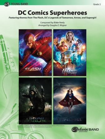 DC COMICS SUPERHEROES (score & parts)