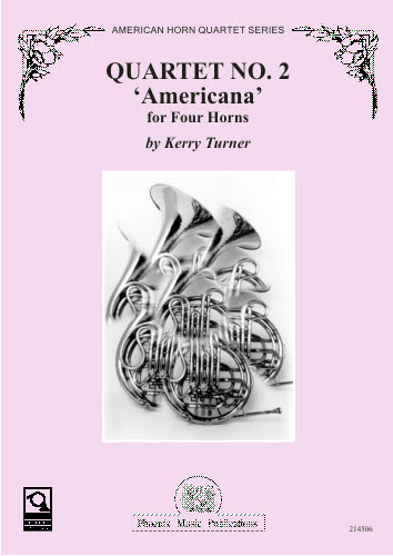 QUARTET No.2 'Americana' score & parts