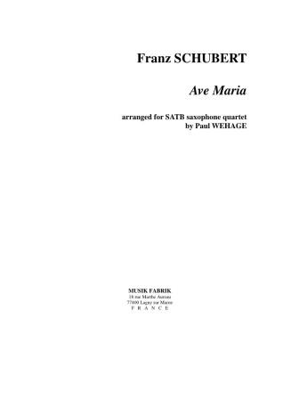 AVE MARIA (score & parts)
