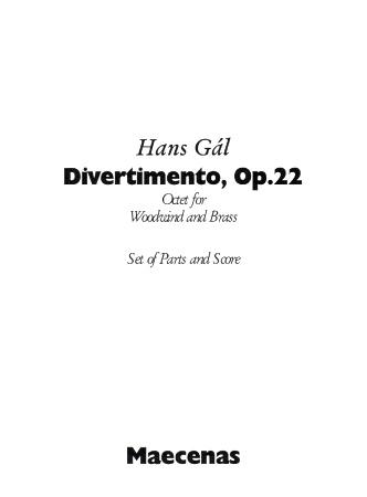 DIVERTIMENTO Op.22 (score & parts)