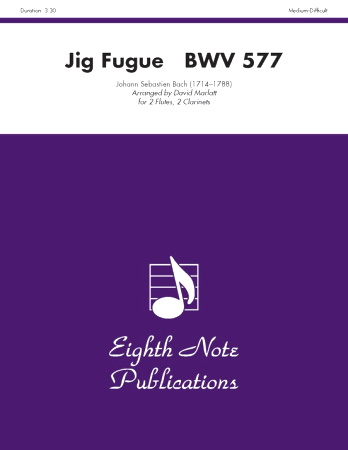 JIG FUGUE BWV 577 (score & parts)