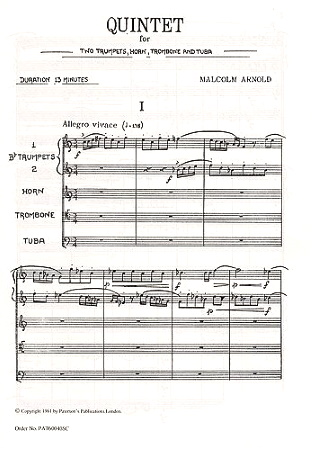 QUINTET (score)