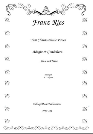 TWO CHARACTERISTIC PIECES Adagio & Gondoliera