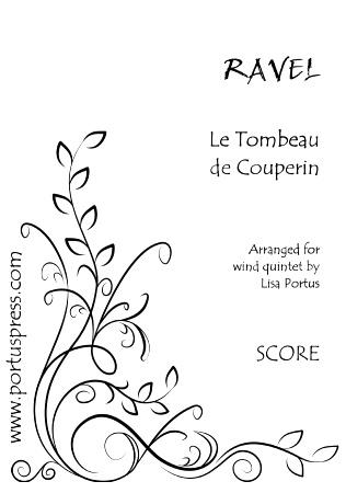 LE TOMBEAU DE COUPERIN (score & parts)