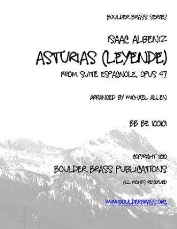 ASTURIAS from Suite Espagnole Op.47 score & parts