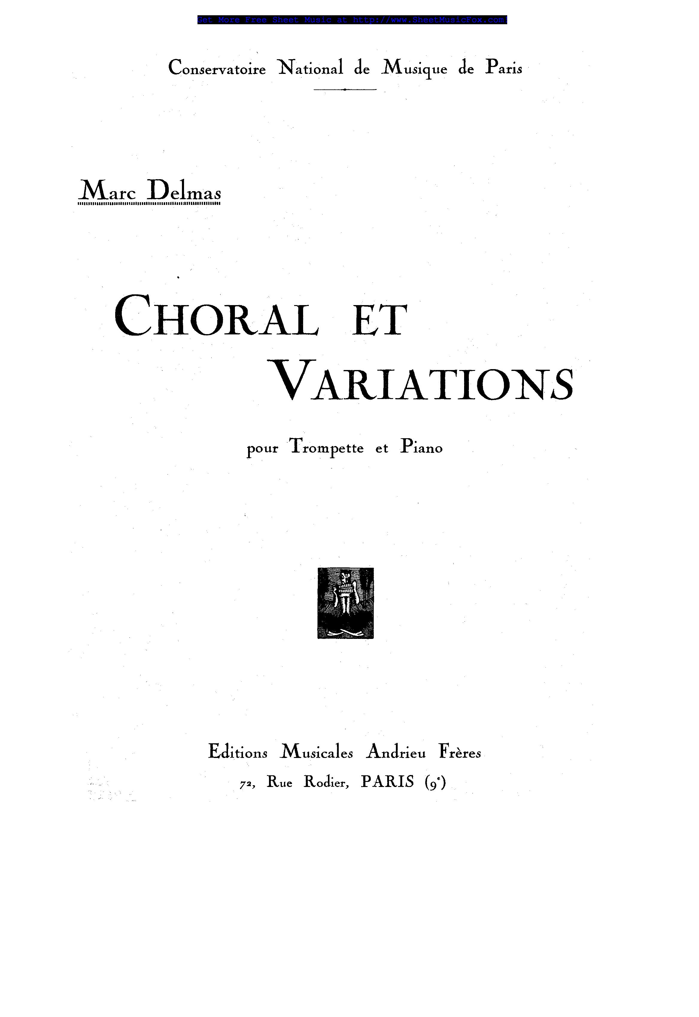 CHORAL ET VARIATIONS Op.37