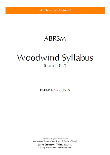 ABRSM WOODWIND SYLLABUS from 2022 (Repertoire Lists)
