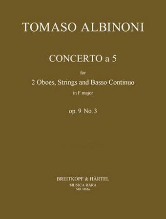 CONCERTO a 5 Op.9 No.3 in F major (score & parts)