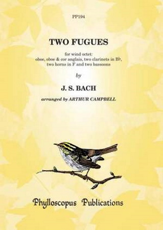 TWO FUGUES by J.S. Bach (score & parts)